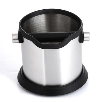 Realand 1800ml ze stali nierdzewnej Espresso pojemnik na kawę antypoślizgowa kawa Grind Dump Bin kosz na śmieci z odpinanym Knock Bar Barista tanie i dobre opinie Metal TN195 Dwuczęściowy zestaw
