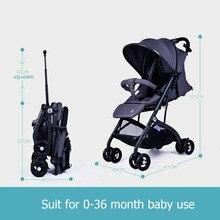 Embarque viagens carrinho de bebê carrinhos de bebê dobrável quatro rodas carrinho de bebê Super leve marca bebe transporte HK grátis