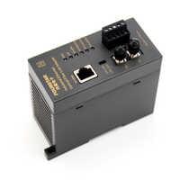 Adaptador de enlace de fibra multimodo Ethernet Industrial para multimodo de fibra 62,5/125um50/125um transmisión máxima distancia de 5 km