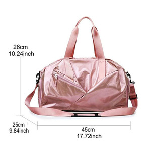 Image 4 - Gym Bags For Women With Shoe Compartment Sport Gym Bag With Wet Pocket New Femal Yoga Duffel Bags Outdoor Travel Luggage Bags