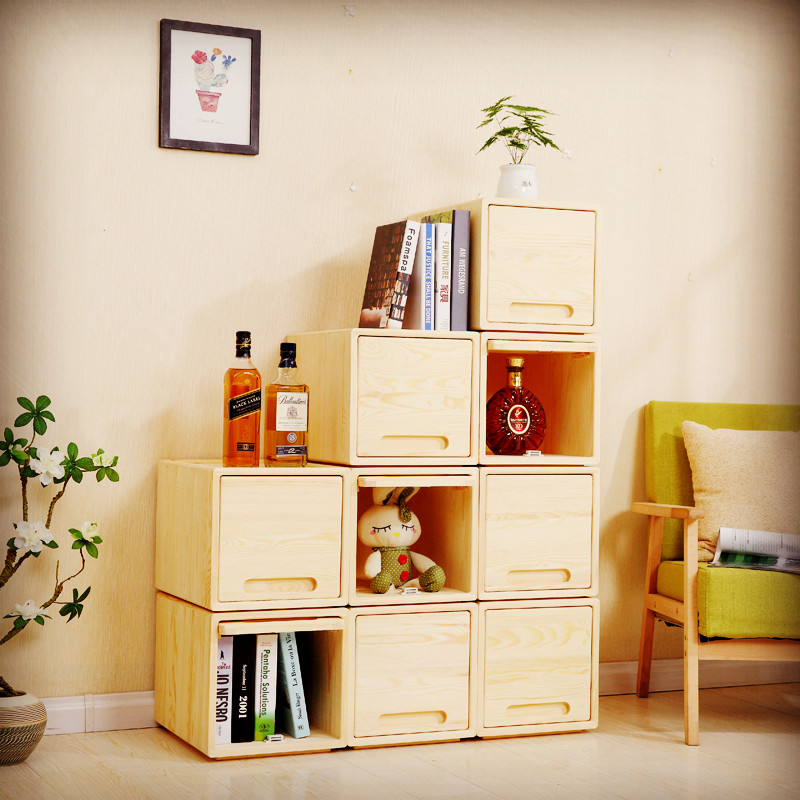 Storage Box, Simple Drawer Type Bedroom Lockers, Special Free Combination  Bedside Cabinet, Living