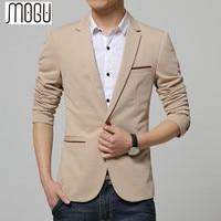 MOGU Men Blazer 2017 5xl Plus Size Men Blaser Masculino Spring Casual Men Suit Cotton Slim Suit Men Jackets Regular Blazers
