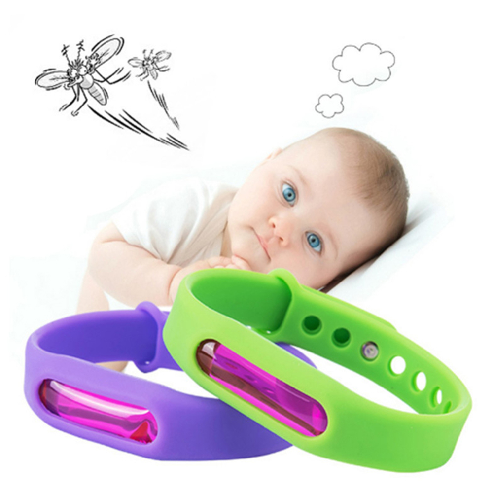 8 Pcs Baby Kids Mosquito Repellent Bracelet Children Anti-mosquito Silicone Wristband Adult Baby Insect Bite Protection Supplies