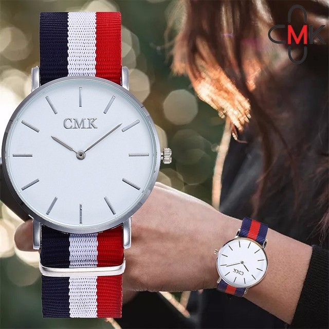 CMK Unisex Nylon Watch Top Brand Luxury Men Women Quartz Watch Fashion Casual Ro