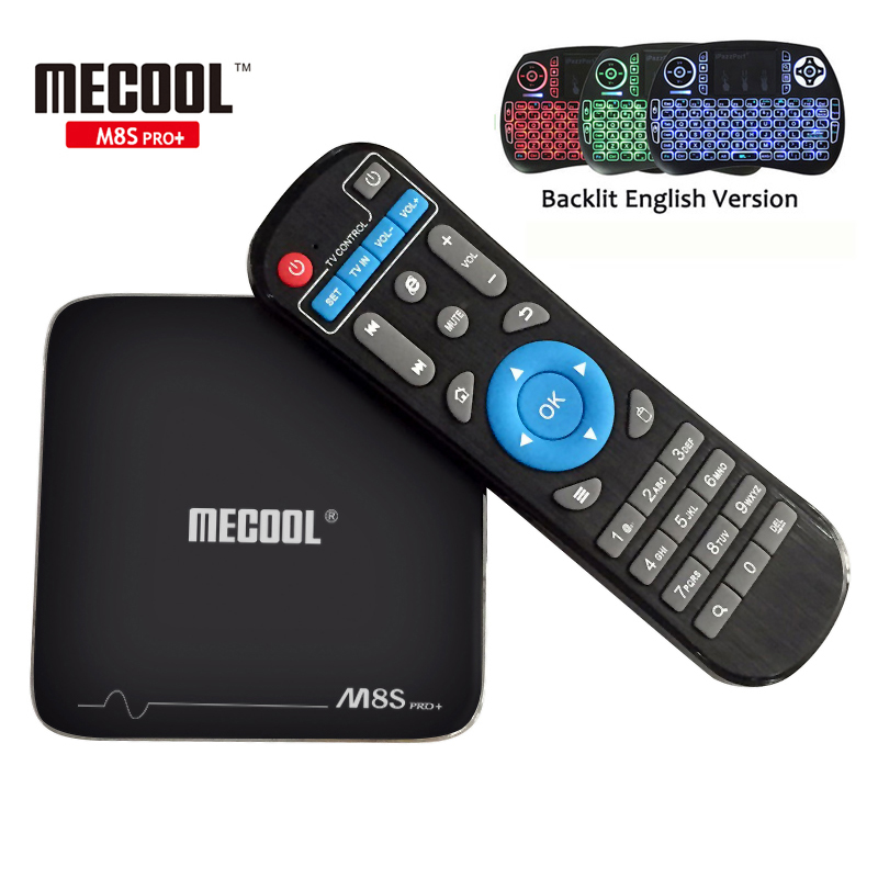 TV BOX MECOOL M8S PRO+ Android 7.1 Amlogic S905X Quad Core 2GB ROM 16GB WIFI H.265 4K Movies Smart TV Box Android Media Player android 6 0 tv box t95x amlogic s905x 2g 8g 2g 16g quad core 100lan wifi h 265 16 1 full pre installed media player box