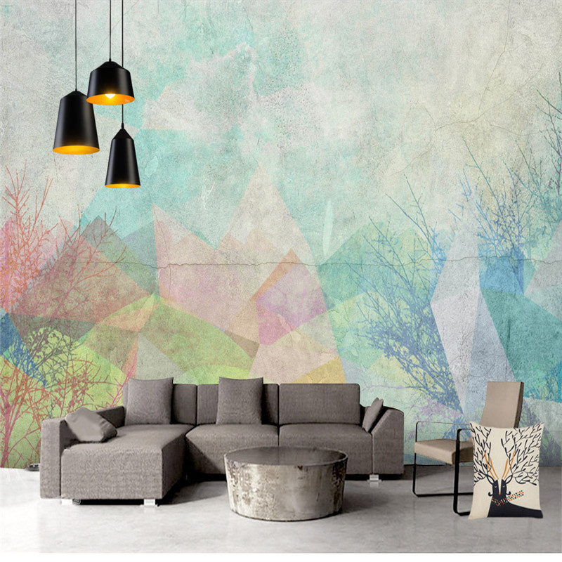 Custom Photo Wallpapers Geometric 3D Wall Murals Wallpapers for Living Room Bedroom Abstract Art Wall Papers Home Decor Painting circle mirror photo wallpapers 3d modern abstract murals wall papers home decor wallpapers for living room wall paste wall mural