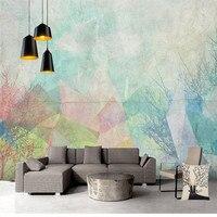 Sfondi personalizzati Foto Geometrica 3D Murales Sfondi per Soggiorno camera Da Letto Arte Astratta Wall Papers Home Decor Pittura