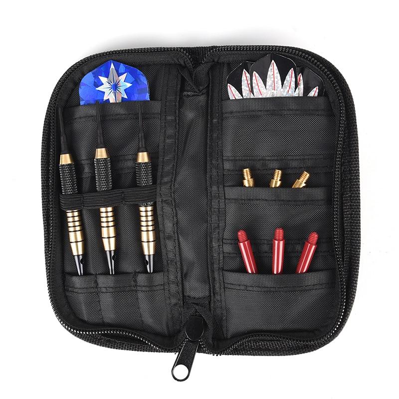Durable Darts Carry Case Wallet Pockets Holder Storing Holder Bag Black WO