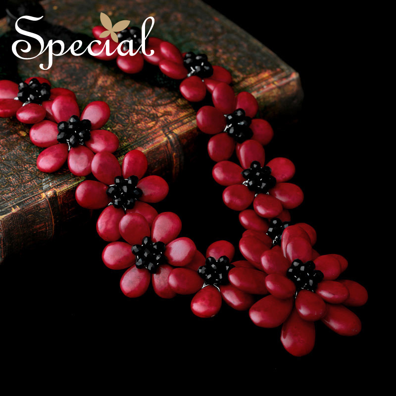 Special Brand New Fashion Flower Maxi Necklace Natural Onyx Necklaces & Pendants Statement Fine Jewelry for Women XL141148 - 2