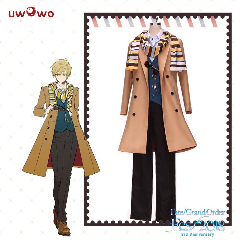 UWOWO  FGO Game Arthur Pendragon Men Cosplay Costume Fate/Grand Order third Anniversary Outfit Halloween Costume Custom