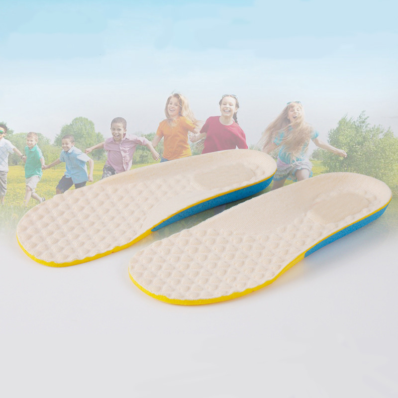 купить Kids Sport Breathable Insoles for Children High Quality EVA Comfortable Shoes Pads Anti-Slippery Soft Running Insole XD-074 недорого