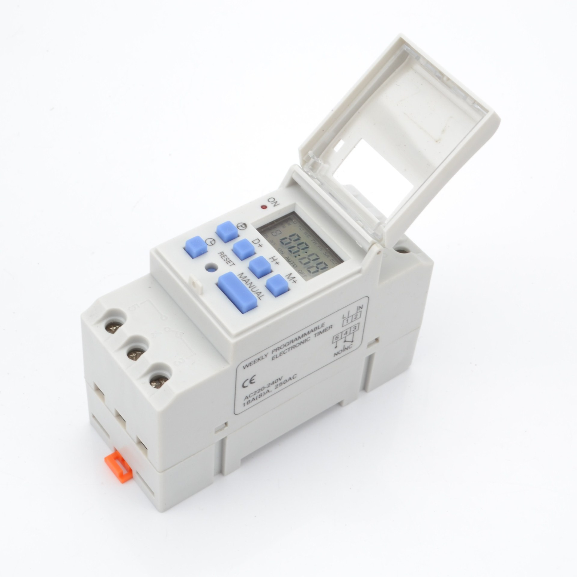 1pc Time Switch 220V 16A Microcomputer Electronic Programmable Digital Timer Switch Relay Control Switch Din Rail Mount chint nkg3 nkg 3 lcd microcomputer astro time switch sunrise sunset based on latitude din rail digital programmable timer relay
