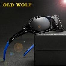 Old wolf 2017 vintage gafas de sol polarizadas de los hombres marca 2016 new conducción gafas de visión nocturna gafas de sol gafas de sol lentes