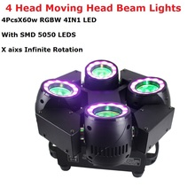 4X60W LED RGBW 4IN1 Wash Lights DMX512 Moving Head Beam Lights With SMD5050 LEDS Professional Dj Bar Show Lights LED Stage Light цена и фото