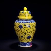 Jingdezhen ceramic ornaments antique porcelain vase floral flower pot general retro decorated living room crafts