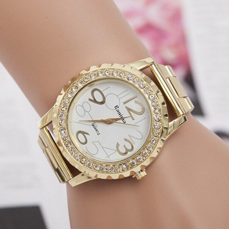 2017 New Luxury Gold font b Watches b font font b Women b font Big Digital
