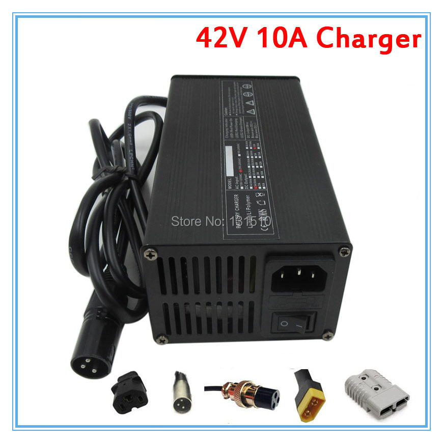 450W 42V 10A charger 36V 10A lithium battery charger XLRM Port 110V 220V for 36V 10S