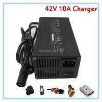 450W 42V 10A charger 36V 10A lithium battery charger XLRM Port 110V / 220V for 36V 10S li ion Electric Bike scooter battery