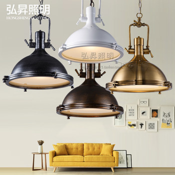 Loft endüstriyel tarzı retro ağır metal ferforje kolye lamba restoran