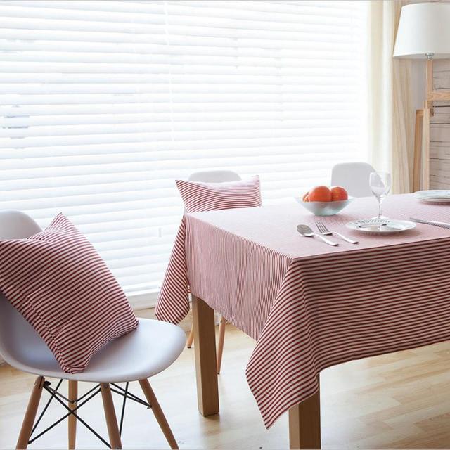Leinen Tischdecke Striped Koreanische Gedruckt 3 Farben Haus