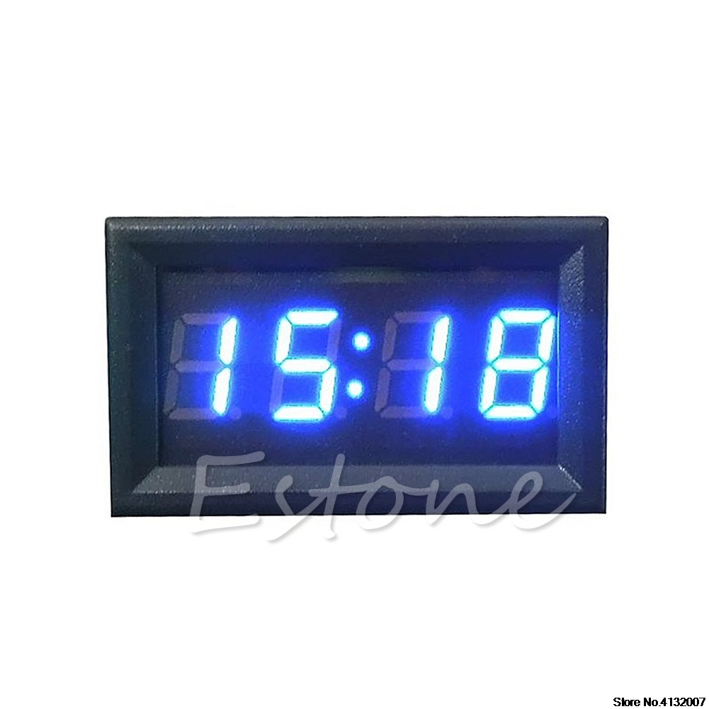 12v/24v Car Motorcycle Accessory Dashboard Digital Clock Led Display New 828 Promotion To Produce An Effect Toward Clear Vision