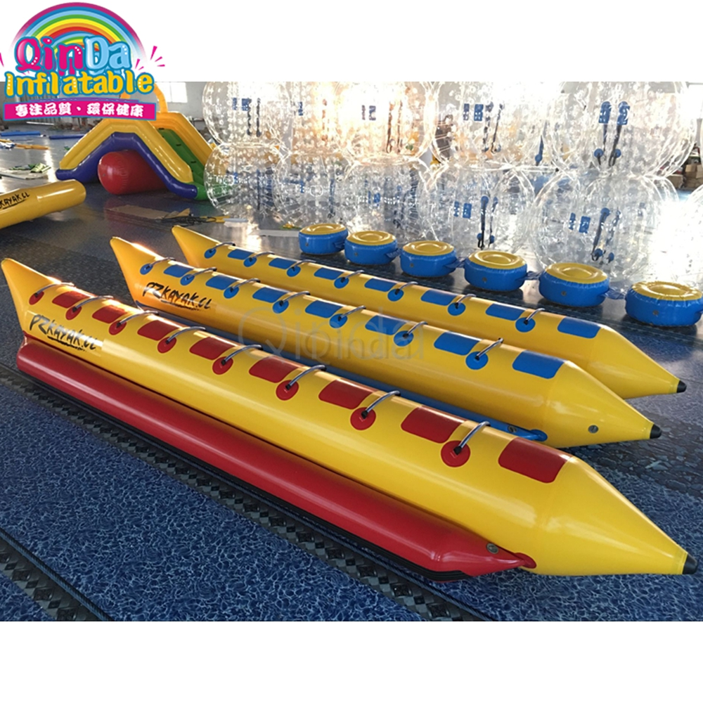 Guangzhou Factory Offer Sports Equipment Inflatable Banana Boat Used Jet Boat For Flying Towables 3 tubes flying towables inflatable flying fish banana boat for water sports inflatable flying towables tube sport boat