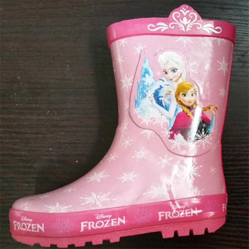 US $20.98 |2019 New Disney Frozen Annie Girls Rain boots Cute Pink Elsa Snow Princess Water shoes Student Rain boots Rubber size 23 36 in Boots from