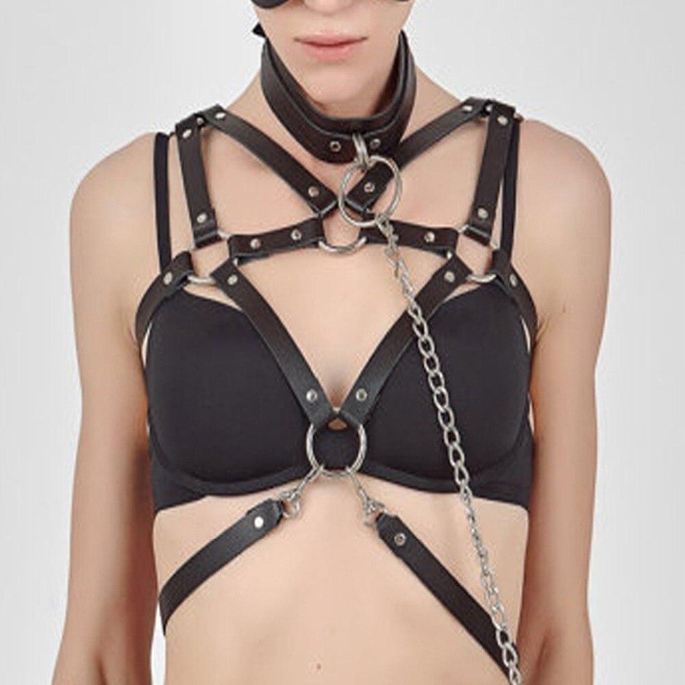 Fetish Harness,gothic Leather Harness BDSM Bondage Leather Bra Lingerie Accessory New Designer Belts