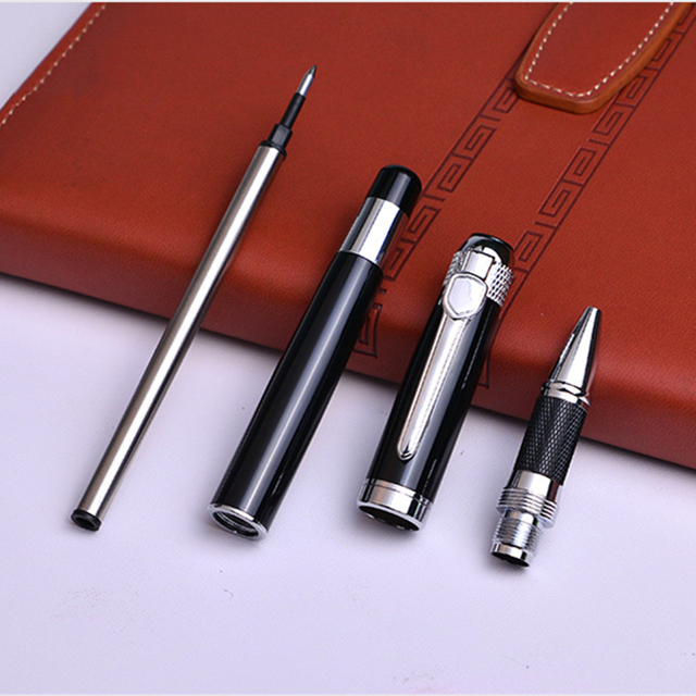 Silver black Monte Roller ball Pen send a refill School Office supplies ball pens high quality send friend business gift 088 2