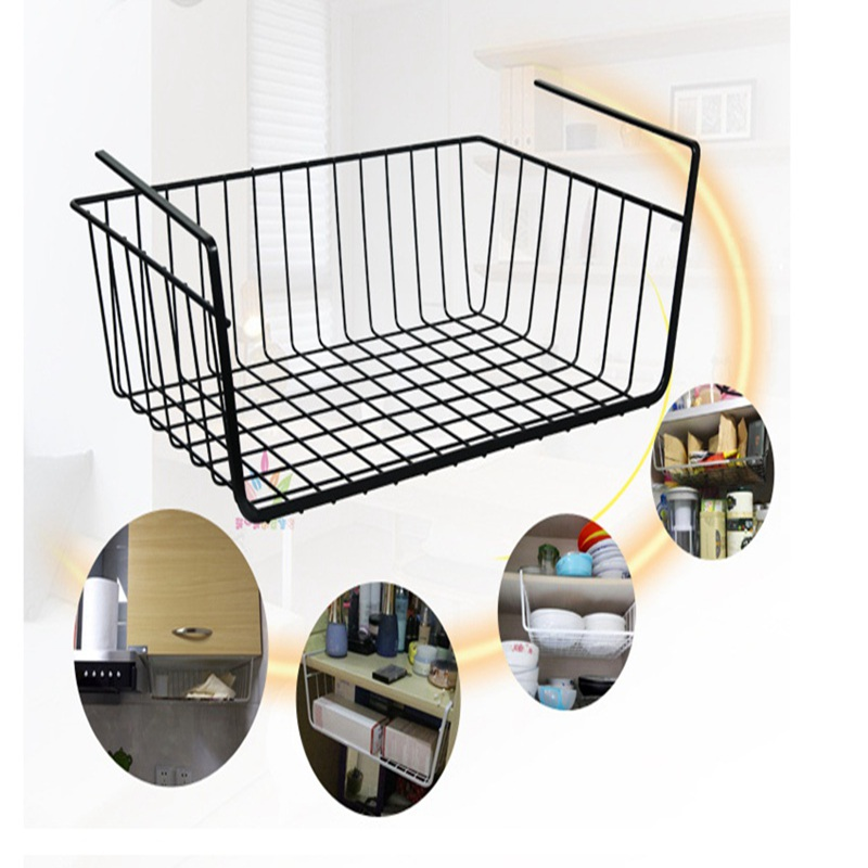 lasperal creative under shelf basket wrap rack storage