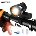 3000 LM T6 LED línea USB luz trasera luz ajustable bicicleta mAh batería recargable Zoomable delantero bicicleta faro lámpara
