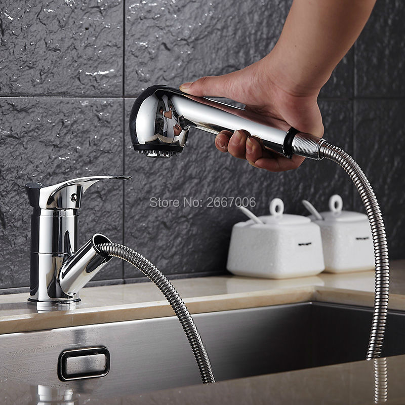 GIZERO Bathroom New design Chrome Faucet Hot and Cold Mixer Kitchen Pull out Faucet Swivel Spout Basin Tap ZR652GIZERO Bathroom New design Chrome Faucet Hot and Cold Mixer Kitchen Pull out Faucet Swivel Spout Basin Tap ZR652