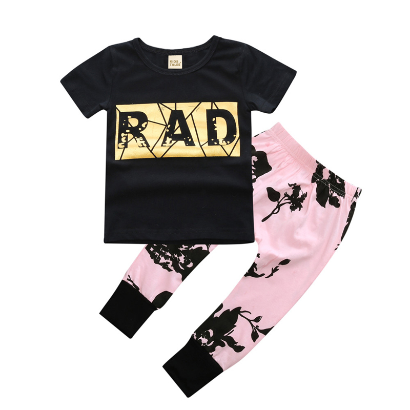 Baby Girl Clothing Set Baby Girl Summer Clothes Sets Cotton Short Sleeve Tops+Pants Newborn Girls Clothes Children Clothing