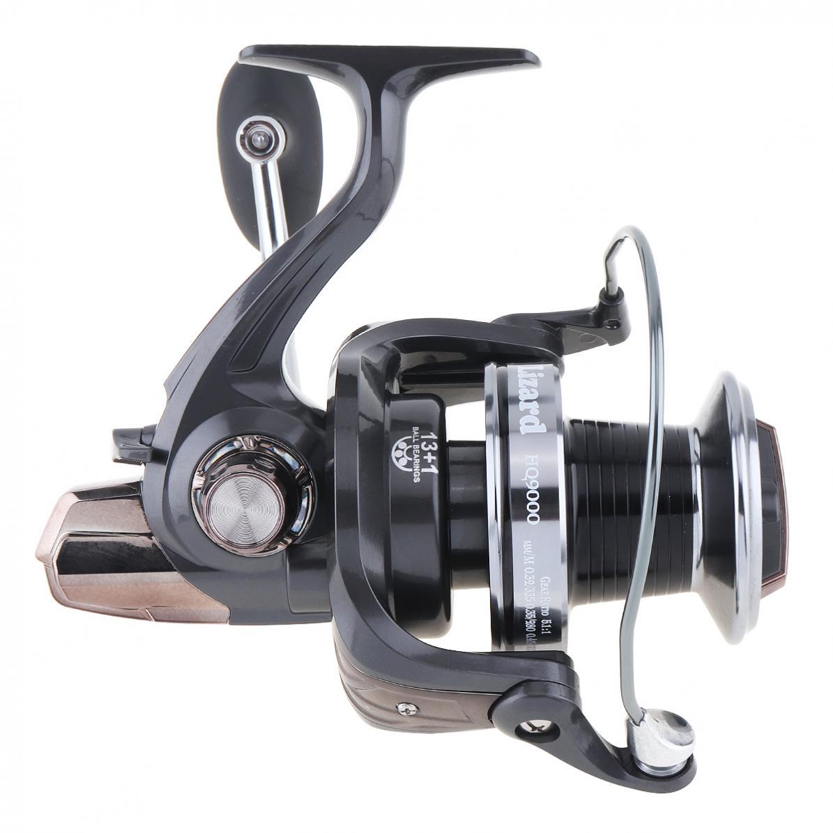 9000 série 13 + 1 roulements à billes 5.1: 1 moulinet de pêche filature 25KG traînée Max gabarits à la traîne longue tir gauche/droite Interchangeable
