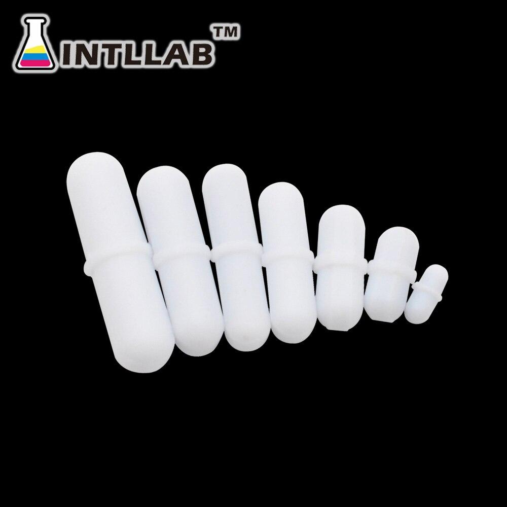7 unidades/pacote barras de agitação magnéticas do misturador do agitador da barra ptfe do tamanho misturado