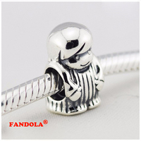 Authentic 925 Sterling Silver Little Boy Charm Beads For Jewelry Making Fits Pandora Charms Bracelets Wholesale