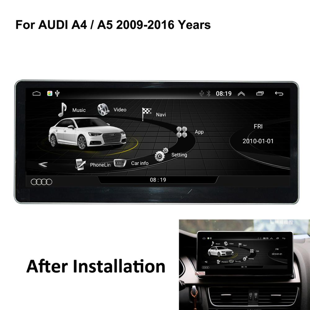 "COIKA 10.25"" Android 6.0 System Car Screen GPS Navi For Audi A4 A5 2009-2016 BT Phonebook Mirror Screen Video Touch Screen Unit(China)"