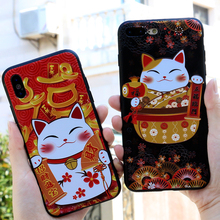 for iPhoneX 7 plus 6 6s silicone 8 8plus frosted soft shell 3D Embossed carvings Three-dimensional phone case Chinese wind