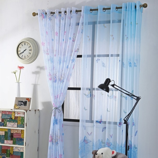 Curtains Ideas butterfly valance curtains : Curtians for Children Baby Room Curtains for Kids Boys Cartoon ...