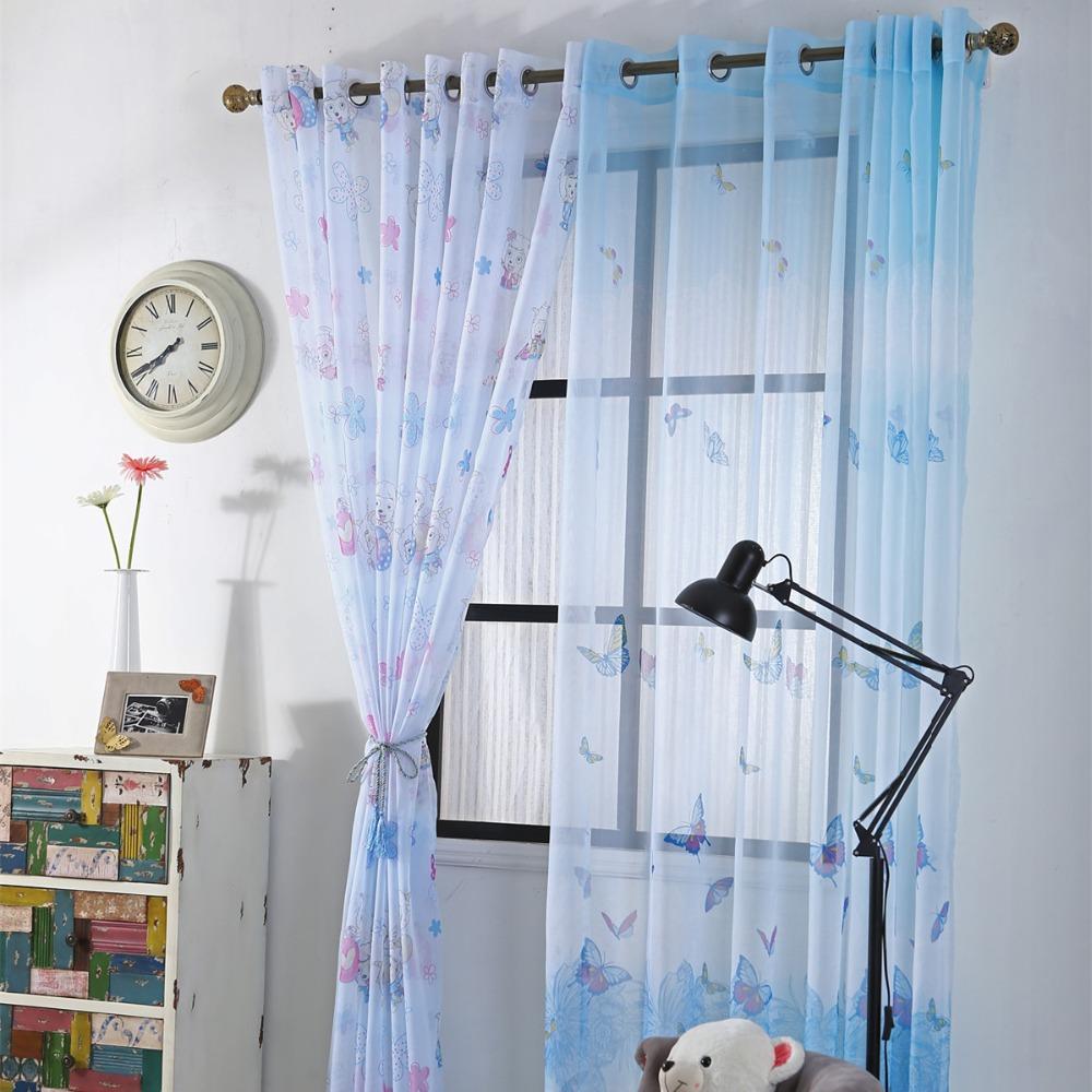 curtians para nios habitacin del beb tul cortinas para nios chicos de dibujos animados mariposa cortinas