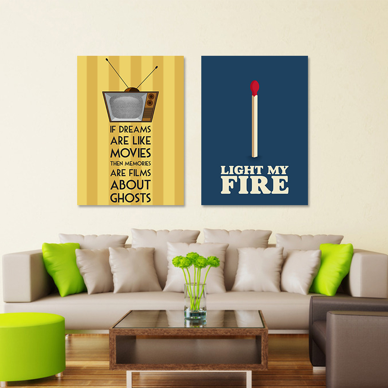 Modern Cool Posters Decoration Letters Light Fire Movies Wall Art ...