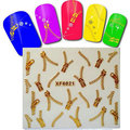 hot 1sheet gold zipper nail sticker bow Nail stickers decoration nail decals gold metal texture nail tool