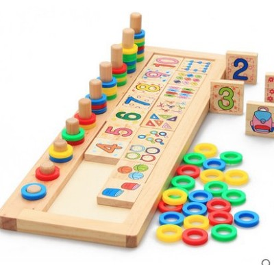 Children Wooden Montessori Materials Learning To Count Numbers Matching Early Education Teaching Math Toys montessori wooden math toys for children boys digital learning education early educational game brinquedos oyuncak