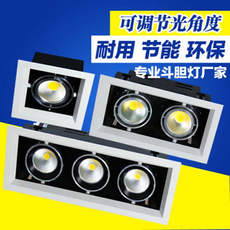 1pcs COB LED Downlights 10w 20w 30w Surface Mounted dimmable LED Ceiling Lamps Spot Light square Rotation LED Downlights