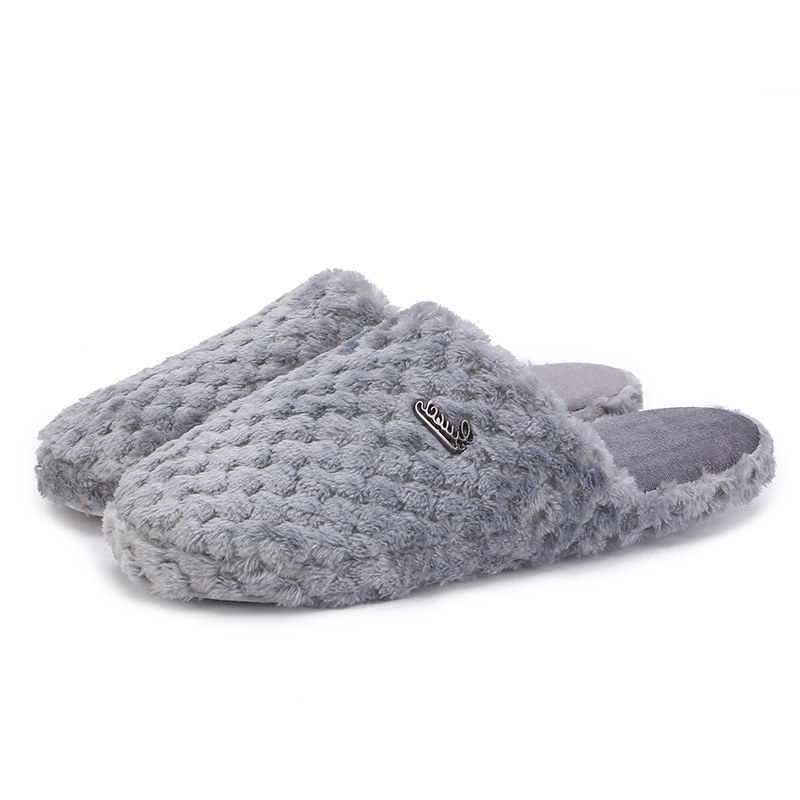 2018 Popular Winter Male Soft Home Slippers Shoes Men Home Slippers Male Winter Warm Indoor Slippers Men Floor Shoes for Bedroom fghgf shoes men s slippers hma