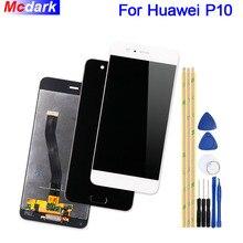 Ограниченное предложение Mcdark для huawei P10 ЖК-дисплей Дисплей и Сенсорный экран планшета Ассамблеи Замена + Инструменты + ленты для huawei P10 VTR-L09 L10 l29