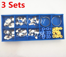 3 Sets of 100Pcs/Set with 20 Pcs Rubber elastic wedge Dental Sectional Contoured Matrices Matrix Ring Delta Wedges
