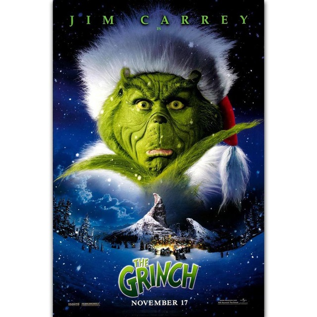 FX569 Hot New Film How The Grinch Stole Christmas 2018 Movie 2000 Custom Poster Art Silk
