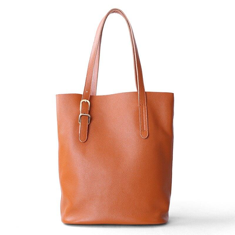 Women Bag Female Genuine Leather Casual Totes Handbag Lady Shoulder Bag Parent-subsidiary Zipper Shopping Bag Adjustable shoulde цена