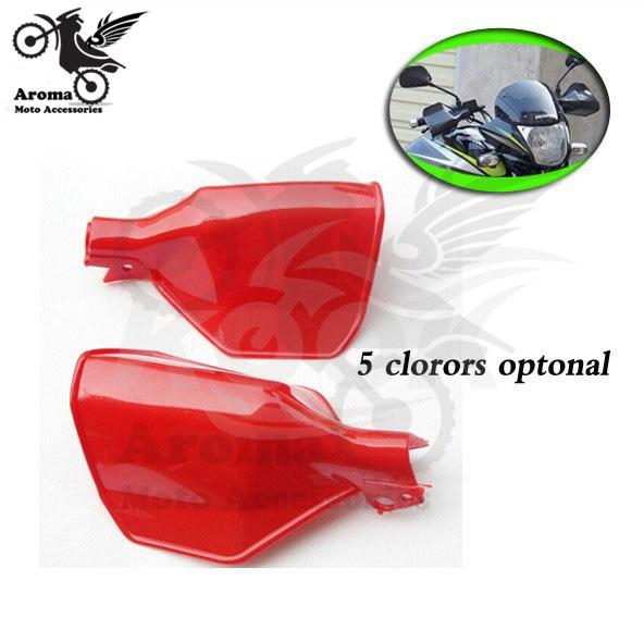pulsuz çatdırılma Motosiklet Handguards Slae moto Gauntlets qırmızı Universal Motosiklet Handguard Honda Əl Qorumaları Shield Dir ATV